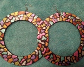 Large Circle Mosaic Earrings