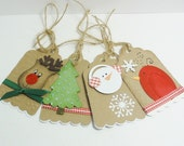 Christmas gift tag set of 4