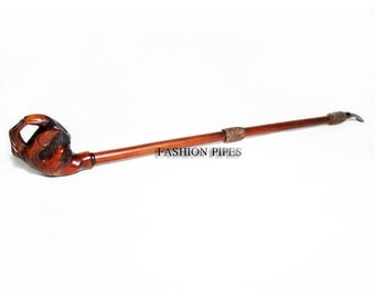 New Tobacco Pipe EXTRALONG  DRAGON CLAW  Smoking Pipe of Pear Wood Pipe 25'' Churchwarden Wooden Pipe. Exclusive Designed for pipe smokers