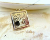 Autumn sterling silver pendant inspired by nature