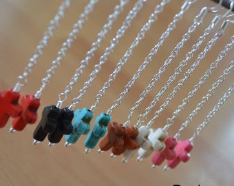 Seashell Jewelry ... Brown Cross Dangle Earrings (0635)