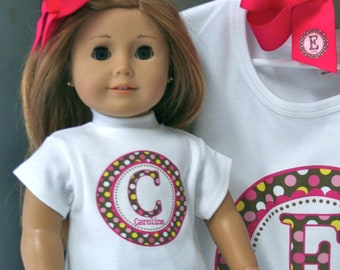 Custom Multi-Dot DOLL SHIRT ONLY - Personalized Long or Short Sleeve -