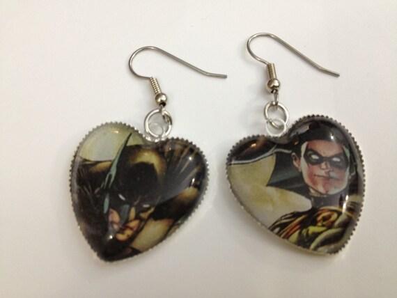 Earrings - Batman and Robin - Comic Book