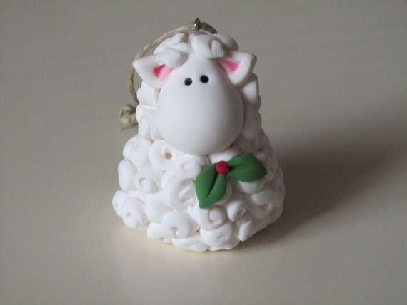 Clay Christmas Lamb Ornament