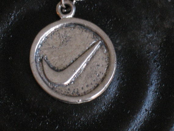 nike pendant, vintage nike sterling silver  pendant /necklace, nike, olymipic games, sports jewelry,