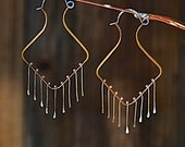 Adamina Brass and Silver Bohemian Hippie Earrings