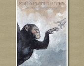 Rise of the Planet of the Apes Movie Poster 11 x 17 - Scifi Fan Art Print