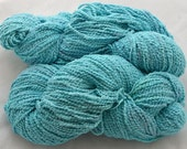 "Pima Cotton Boucle, bulky and soft, 8oz ""Ocean"""
