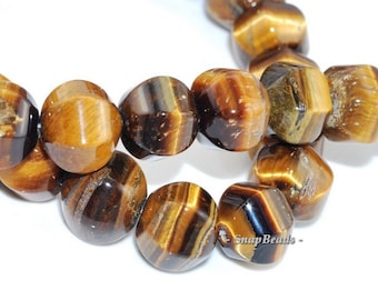 10MM Cognac Tiger Eye Gemstone Brown Facet Onion Drum Hexagon 10X10MM Loose Beads 15.5inch Full Strand (90165047-3)