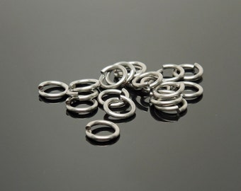 8mm OD 18G Stainless Steel Jump Rings (100)