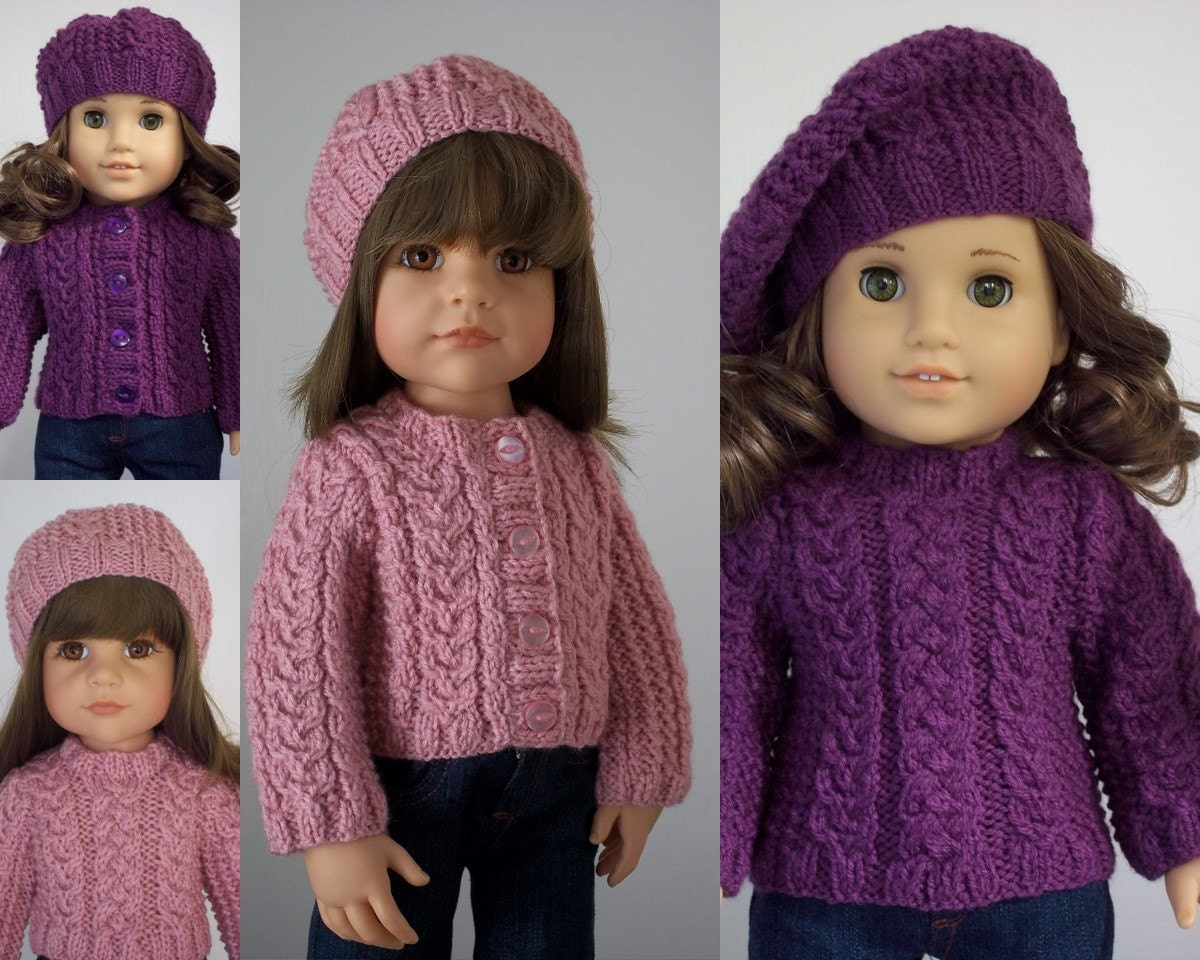 Free Knitting Patterns Doll Clothes American Girl : Faith pdf doll clothes knitting pattern for by ...