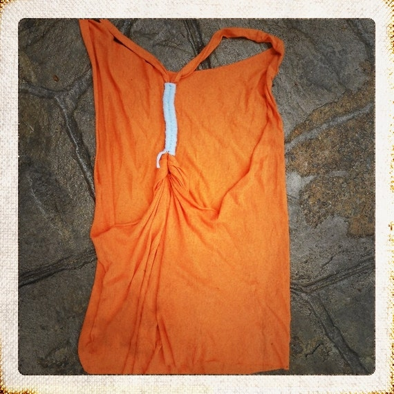 Totally Twisted Tanks Collection in orange - size S/M/L