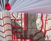 Map-Covered Travel Sketch Journal in Red & Grey
