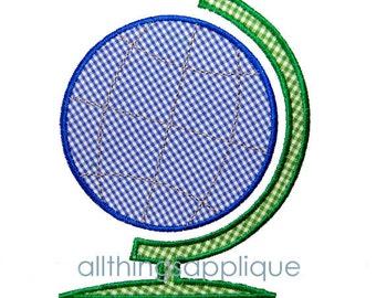Globe Applique Design - 3 Sizes - Back to School Applique - INSTANT DOWNLOAD