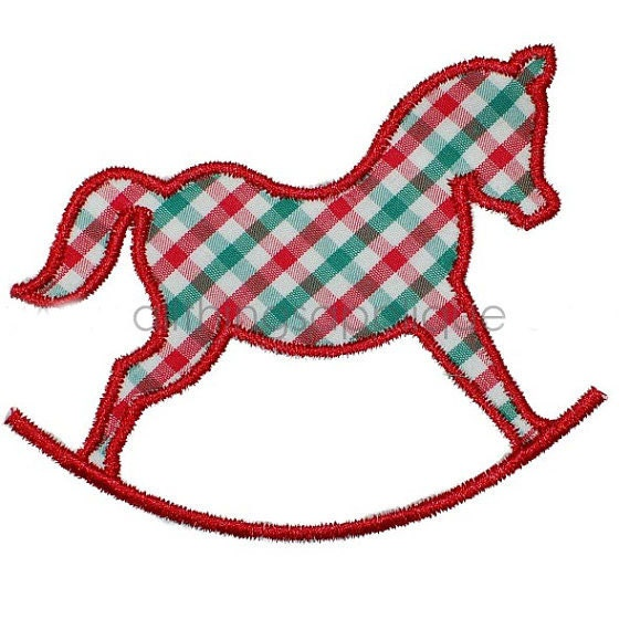 Rocking Horse Applique Designs Plans Diy Free Download 3d Wooden