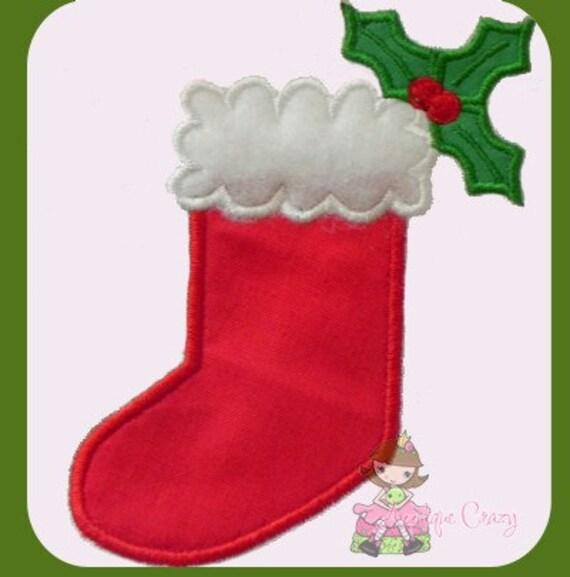Christmas Stocking 2 applique design