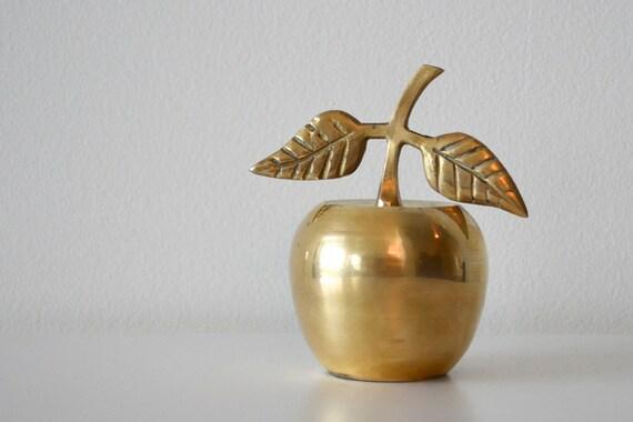 Brass apple bell Back to school