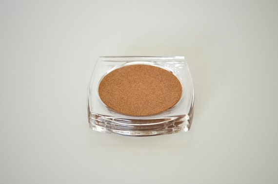 Lucite and cork coaster set of 3