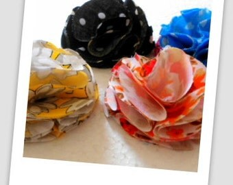 Sewing Pattern Fluffy Fabric Flower, INSTANT DOWNLOAD, DIY pattern, Flower Tutorial