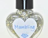 Mumbling Silver and Gold Holographic Glitter Nail Polish 5ml Mini Bottle