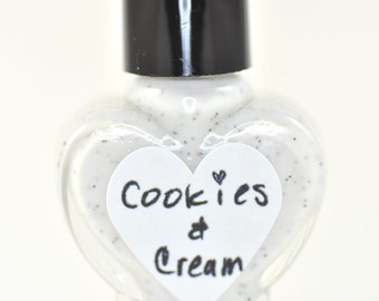 Cookies and Cream Black and White Nail Polish 5ml Mini Bottle