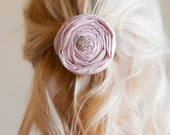 English Rose: Flower girl hair clip ... in pure silk .. all colours available
