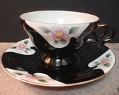 Priced Reduced 3.00 -- Vintage Teacup And Saucer  Art Deco Style