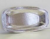 Vintage Hammered Silver Tray, Art Moderne Style