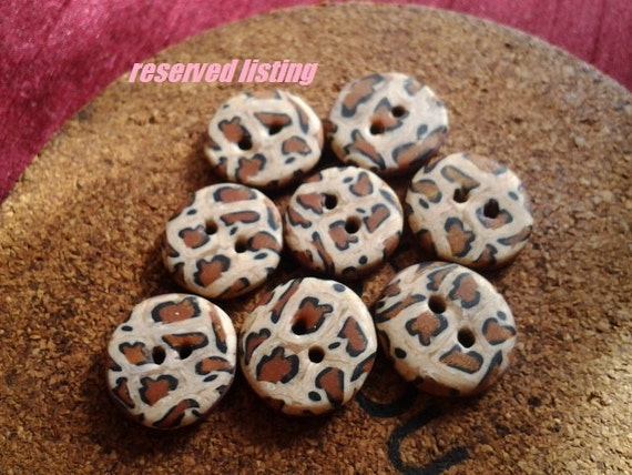 Leopard Buttons special Order for Hollie