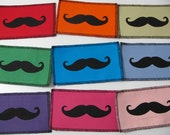 One Mustache patch in any color you choose....FREE SHIPPING USA