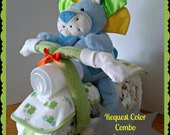 Diaper Cake - Diaper Motorcycle with Driver - Baby Shower Gift - Baby Shower Centerpiece
