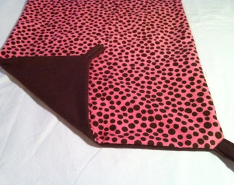 Ferret Hammock, Small Animal Bedding  - Medium - pink and brown dots