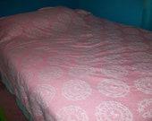Vintage Woven Damask Bedspread