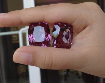 one pair color changed alexandrite 20x17mm