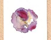Blend Number 70 - Coffee, Wine & Tea - Original OOAK Watercolor Painting, Framed