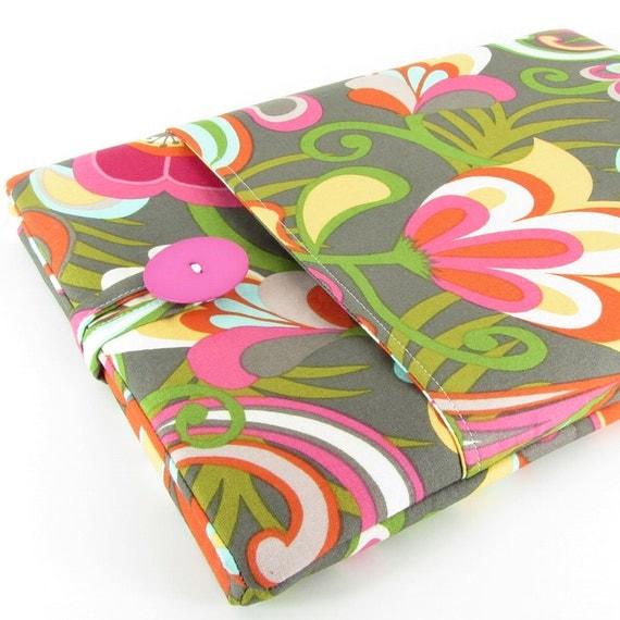 iPad Case, iPad Sleeve, iPad 2 Case, iPad 3 Case, iPad 2 Sleeve, iPad 3 Sleeve, iPad 4 Case, iPad 4 Sleeve - Cute Flowers Pink Green Yellow.