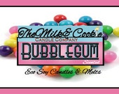 Bubblegum Scented Eco Soy Candle Tin