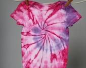SALE -Tie dye onesie, 12 months, Pink and purple