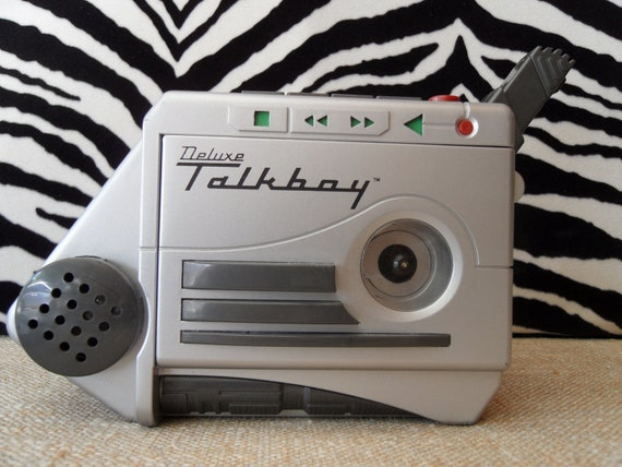 Vintage 80s TALKBOY Cassette Recorder.  works great very collectible