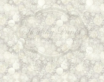 PRODUCT BACKDROP 2ft x 2ft  Vinyl Photography Backdrop for Accessories, product pictures / Neutral Bokeh Snowflakes