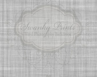 2ft x 2ft Vinyl Photography Backdrop / Gray Linen Texture / Custom Photo Prop