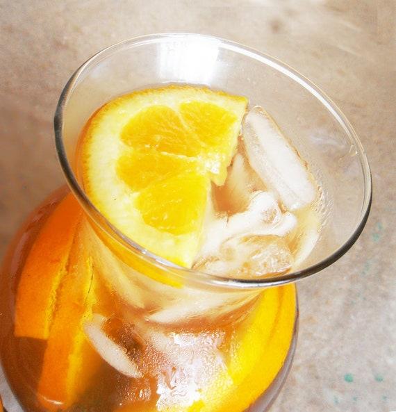 Pure Raw Honey Tea ORANGE SPICE flavored 8 OZ. Ice tea for summer ...