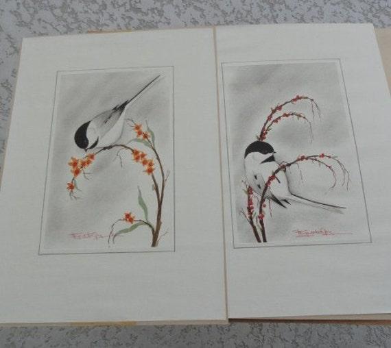 217)  Margaret Ann Gaug Chickadee Prints