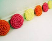 Sweet Summer Sherbert: Set of Three Crochet Nylon Netting Eco-Friendly Reusable Kitchen Dish Scrubbies in Orange, Yellow, and Pink