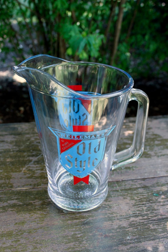 Old Style Vintage Beer Pitcher - Heileman's Retro Brew - Downstate