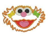 Zoe Applique, Embroidery Design, Sesame Street Applique, Embroidery Applique (27) Instant Download