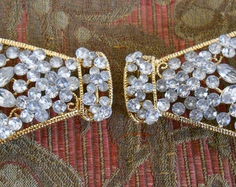 Gold Rhinestone Belt Buckles