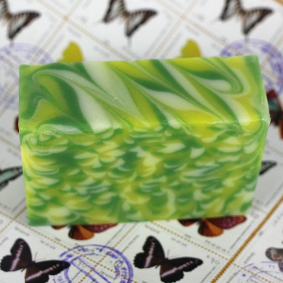 Impressionistic Cold Process Handmade Soap Bar