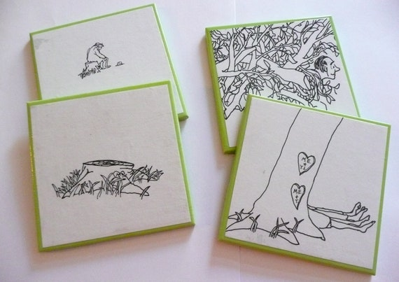 The Giving Tree Ceramic Coasters - Set of Four