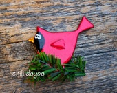 winter cardinal pin